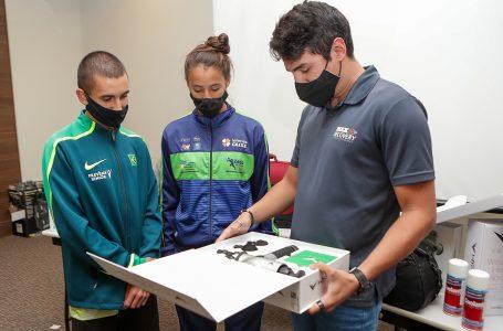 Atleta Marina de Siqueira é convidada para conhecer a Max Recovery