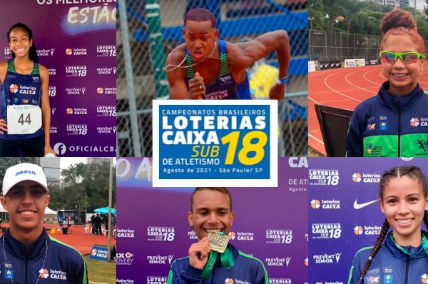 EQUIPE DO CASO GANHA SEIS MEDALHAS NO BRASILEIRO LOTERIAS CAIXA SUB-18